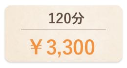 120分3,300円